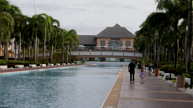 the grounds of the hard rock hotel & casino are seen on june 20, 2019 in punta cana, dominican republic. a tourist died unexpectedly after getting... - ハードロックカフェ点の映像素材/bロール