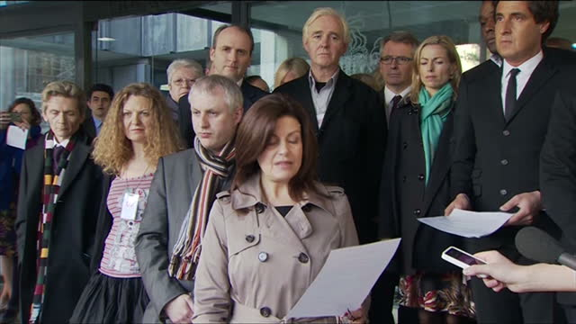 the group hacked off representing victims of press intrusion welcomed lord justice leveson's recommendations sky's rhiannon mills reports on whether... - disrespect stock videos & royalty-free footage