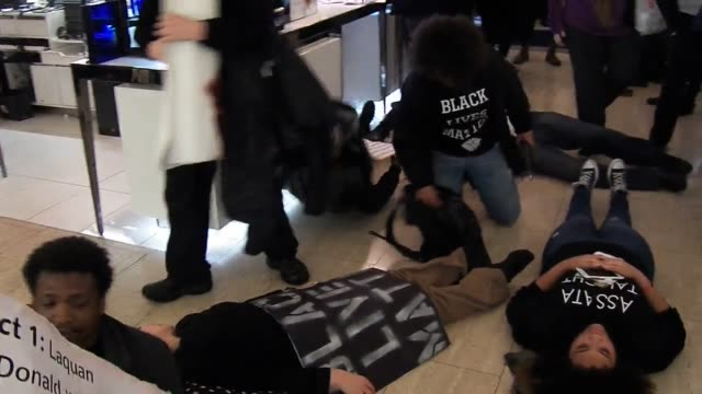 The groups Shut It Down and Grand Central Crew held a protest at Grand Central then marched inside Saks Fifth Avenue where they held a diein Later...