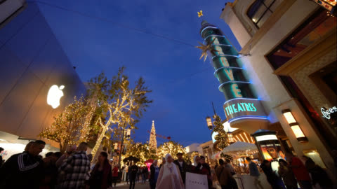 the grove at christmas - the grove los angeles stock videos & royalty-free footage
