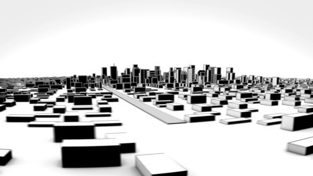 この成長著しい街です。漫画のスタイルです。 - 町点の映像素材/bロール