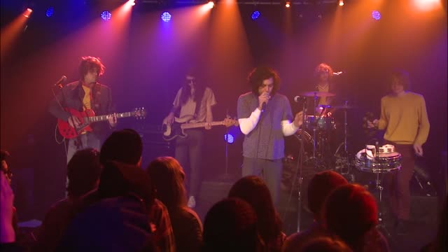 the growlers perform their fusion of psychedelic and garage rock at jbtv music television - psychedelische musik stock-videos und b-roll-filmmaterial