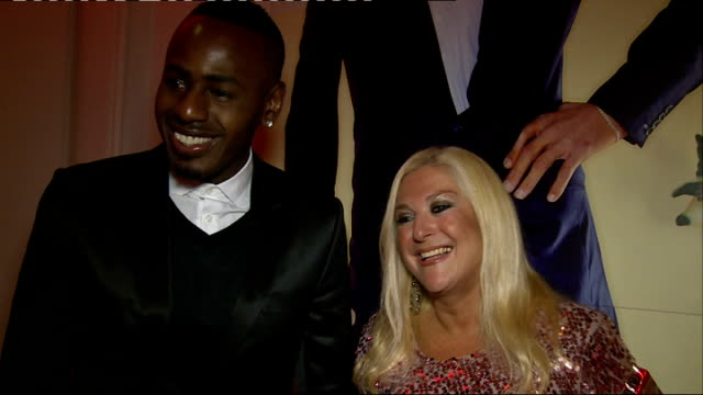 the guinness world records 2014 edition launch: interviews; vanessa feltz interview sot image of world's tallest man / group of men posing with... - vanessa feltz stock videos & royalty-free footage