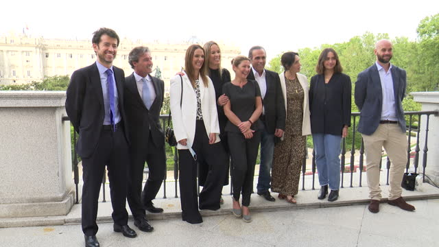 the guitar player's family and the bailaora sara baras during the presentation of the paco de lucia foundation - spanish culture stock videos & royalty-free footage