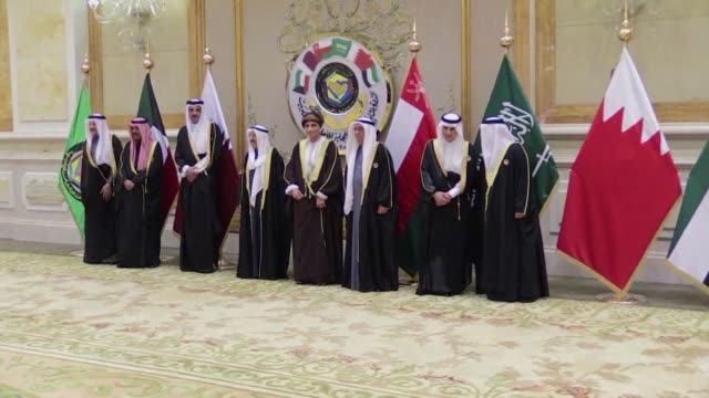 the gulf cooperation council which launches its annual summit tuesday in kuwait amid its deepest ever internal crisis comprises six arab monarchies... - crisis stock videos & royalty-free footage
