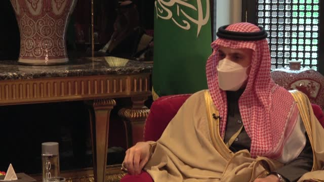 the gulf states must be consulted if a us nuclear agreement with iran is revived, says saudi arabia's foreign minister, warning it is the only path... - government minister stock videos & royalty-free footage