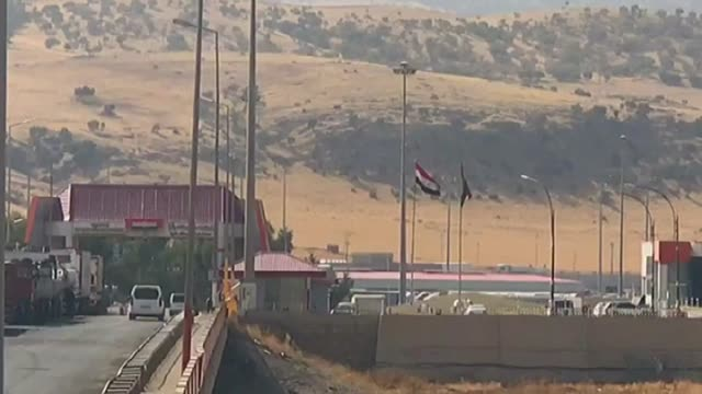 the habur border crossing which also is known as halil ibrahim on october 31 2017 in sirnak southeastern turkey an ongoing turkishiraqi joint... - silopi stock videos and b-roll footage