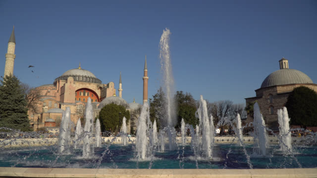 The Hagia Sophia and Spraying Sprinklers as Cinemagraph