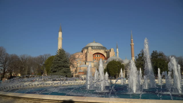 The Hagia Sophia and Spraying Sprinklers