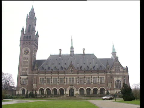 the hague gv the international court of justice - international court of justice stock videos and b-roll footage