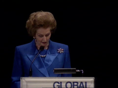 Thatcher speech C4N NETHERLANDS The Hague TCMS Margaret Thatcher greeted along PAN RL responding to press question re are you trying to embarrass the...