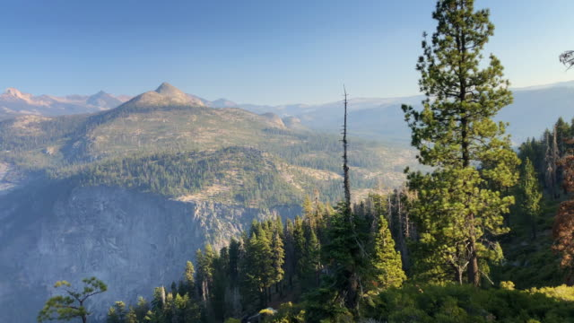 the half dome from glacier point in yosemite national park. - half dome stock videos & royalty-free footage