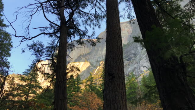 The Half Dome from Mirror Lake in Yosemite Valley.