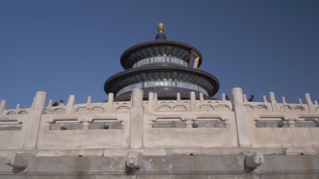 vidéos et rushes de the hall of prayer for good harvests in the temple of heaven, unesco world heritage site, beijing, people's republic of china, asia - temple du ciel