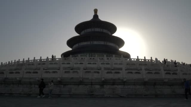 the hall of prayer for good harvests in the temple of heaven, unesco world heritage site, beijing, people's republic of china, asia - beijing stock videos & royalty-free footage