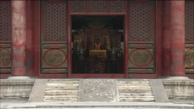 the hall of supreme harmony - throne stock videos & royalty-free footage