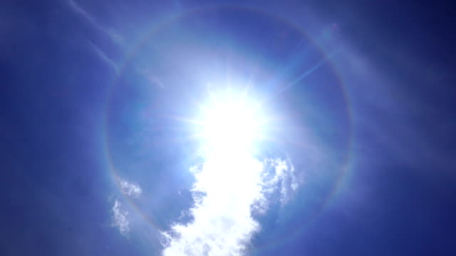the halo surrounds the sun - spectrum stock videos & royalty-free footage