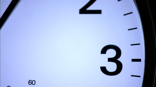 vídeos y material grabado en eventos de stock de the hands on a clock turn quickly. - esfera de reloj