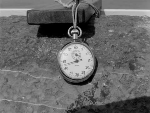 the hands on a stopwatch move clockwise around the watch face. - ストップウオッチ点の映像素材/bロール