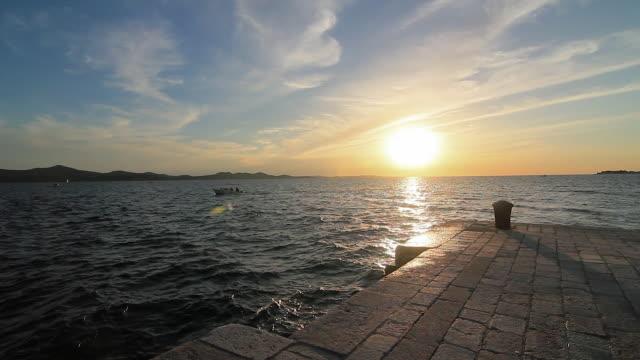 stockvideo's en b-roll-footage met the harbor of zadar in croatia - kroatië