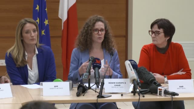 the head of a european parliament mission to malta on wednesday voiced serious concern about joseph muscat remaining prime minister during a probe... - parliament building stock videos & royalty-free footage