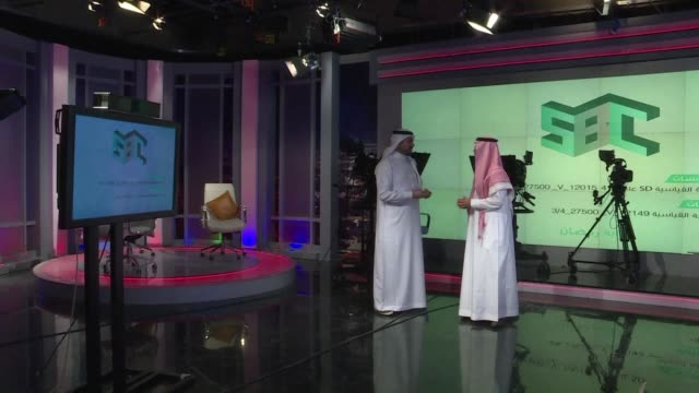 the head of a new tv channel in saudi arabia discusses the ambitious launch of films talk shows and cooking programmes that seek to lure young... - television show stock videos & royalty-free footage
