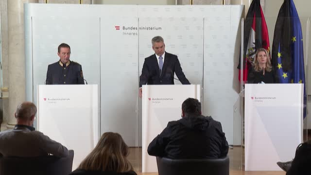 the head of anti-terror operations in the austrian capital vienna is suspended after details emerged of further security lapses in the run up to... - österrikisk kultur bildbanksvideor och videomaterial från bakom kulisserna