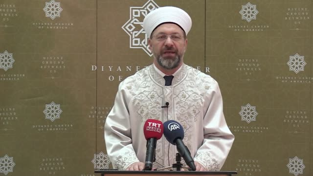 the head of turkey's religious affairs in the state of maryland warned the muslim americans about the malicious terror group, the fetullah terrorist... - maryland us state stock videos & royalty-free footage