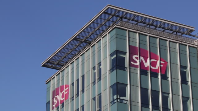 the head office of sncf (campus etoile) - headquarters stock videos & royalty-free footage