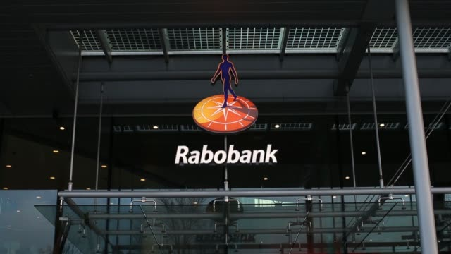 the headquarters of rabobank group stand in utrecht netherlands on wednesday dec 23 2015 - utrecht stock videos & royalty-free footage