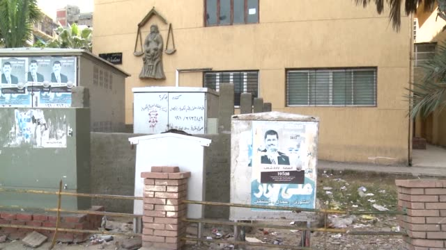 the headquarters of the muslim brotherhood in port said stand defaced and abandoned in a city that was once a bastion of the brotherhood but is now a... - port said stock videos & royalty-free footage