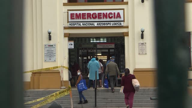 """the health system collapsed in peru"""" says a relative of a covid-19 patient outside the loayza hospital in lima as peru becomes the country with the... - peru stock videos & royalty-free footage"""