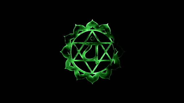 the heart chakra anahata - god stock videos & royalty-free footage