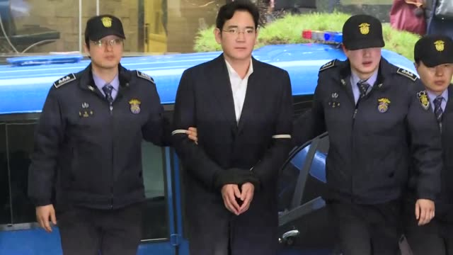 the heir to the samsung empire faces the verdict in his corruption trial friday which threatens to leave the world's biggest smartphone maker... - heir stock videos and b-roll footage