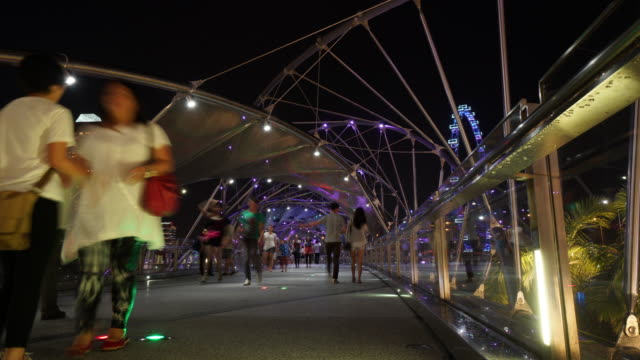 the helix bridge - helix bridge stock videos & royalty-free footage