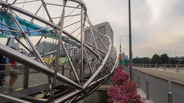 the helix bridge. - helix bridge stock videos & royalty-free footage