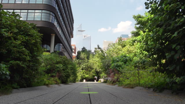 the high line in nyc's chelsea neighborhood - chelsea new york stock videos & royalty-free footage