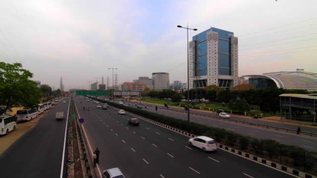 The highrises of Cyber City, Gurgaon adjacent to the Delhi- Gurgaon expressway