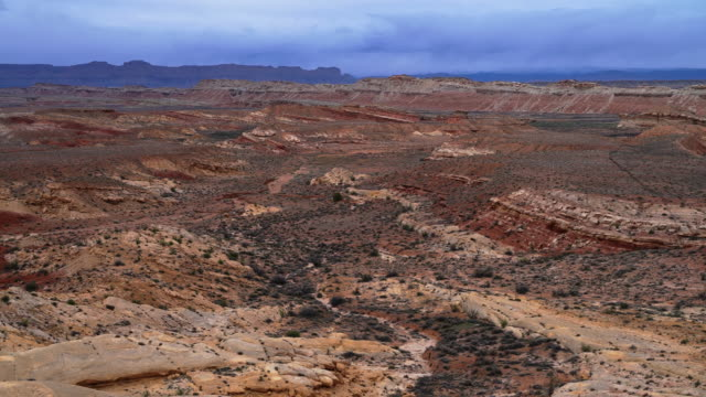 the highway us-70 in the coral canyon. the view from san rafael swell view point, utah, usa, in the early spring. - san rafael swell stock videos and b-roll footage