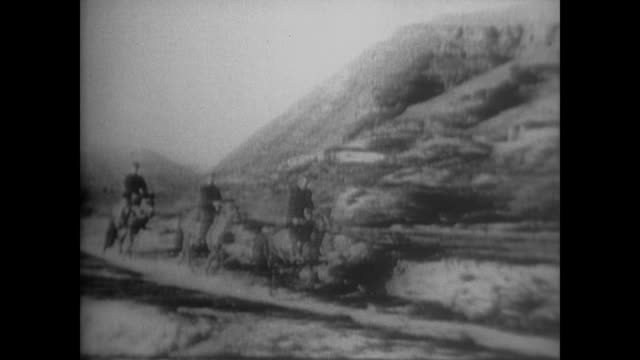 the hills of yan'an where the ccp stayed after the long march and where edgar snow had his first interview with chairman mao - anno 1936 video stock e b–roll