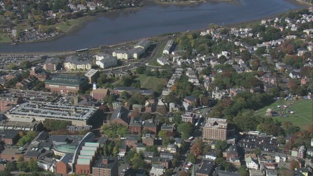aerial the historic district of salem common / massachusetts, united states - salem stock videos & royalty-free footage