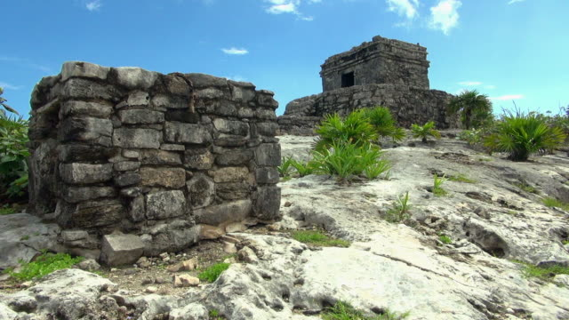 the historic mayan ruin in a different closer angle - magnifying glass stock videos & royalty-free footage