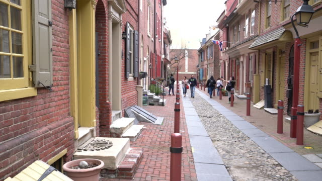 la storica città vecchia a philadelphia - philadelphia pennsylvania video stock e b–roll