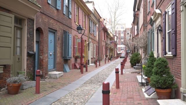 vidéos et rushes de la vieille ville historique de philadelphie - philadelphie