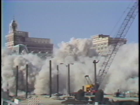 the historical hotel blenheim in atlantic city, new jersey tumbles to the ground during a planned demolition. - atlantic city stock videos & royalty-free footage