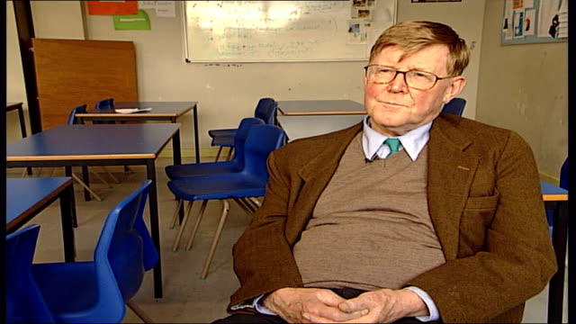 'the history boys' preview; leeds high school; int alan bennett interview sot - i'm 72 / it's a good thing to feel you've still got things you want... - the history boys stock videos & royalty-free footage