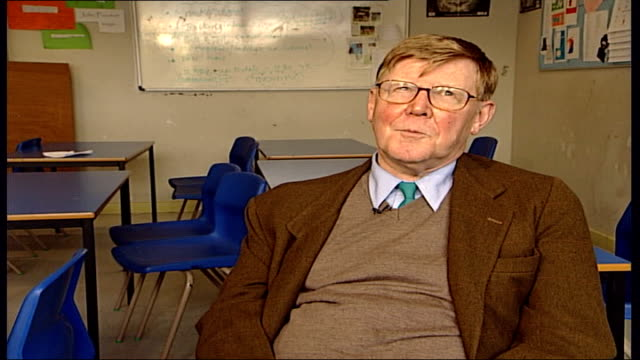 'the history boys' preview; leeds high school; int alan bennett interview sot - if you want a good account of a play the film is it / the film is... - the history boys stock videos & royalty-free footage