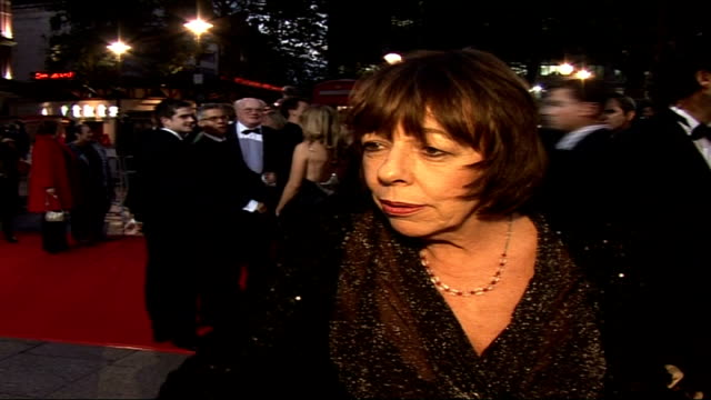 'the history boys' royal film premiere; night frances de la tour speaking to press frances de la tour interview sot - i had not done an alan bennett... - the history boys stock videos & royalty-free footage