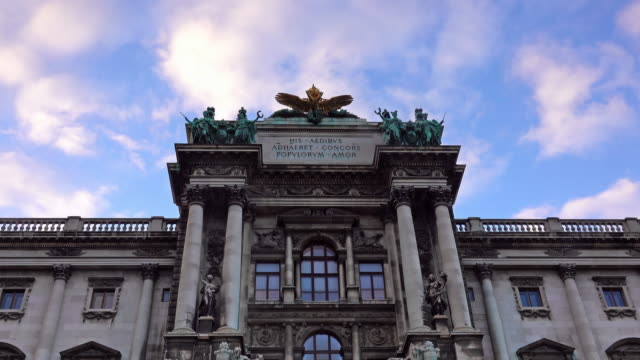 the hofburg complex from burggarten, vienna - the hofburg complex stock videos & royalty-free footage