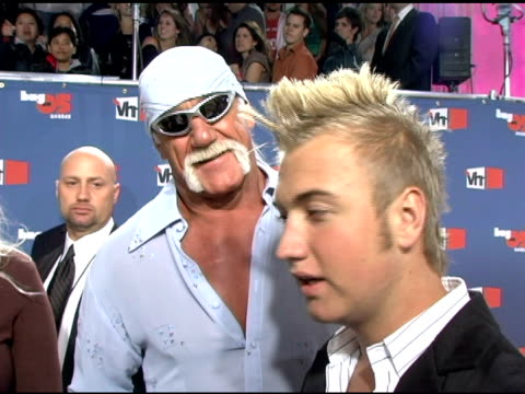 the hogan family on their reality show, boyfriends and record deals at the vh1 big in '05 at sony studios in los angeles, california on december 3,... - vh1ビッグインアワード点の映像素材/bロール